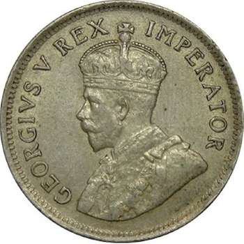 1924 South Africa King George V Shilling Silver Coin