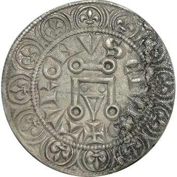 1270 -1285 France Philip III Gros Tournois Silver Coin
