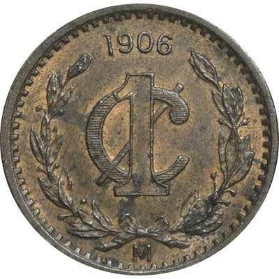 1906 Mexico Centavo Copper Coin