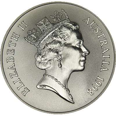 1 oz 1998 $1 Silver Kangaroo (Frosted UNC)