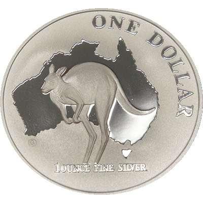 1 oz 2000 $1 Silver Kangaroo (Proof Strike)