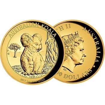 1 oz 2017 Australian Koala Gold Proof High Relief Coin