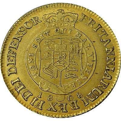 1808 Great Britain King George III Half Guinea Gold Coin