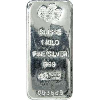 1 kg PAMP Suisse Cast Silver Bullion Bars