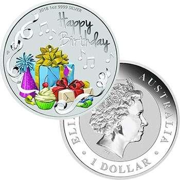 1 oz 2018 Australia Happy Birthday Silver Coin