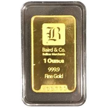 1 oz Baird & Co Gold Bullion Minted Bar
