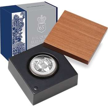 1 oz 2018 65th Anniversary of the Coronation of Queen Elizabeth II Silver Proof Coin