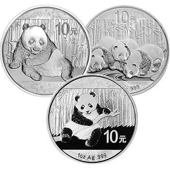 1 oz Chinese Panda Silver Bullion Coin - Mixed Dates