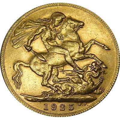 1925 P Australia King George V St George Sovereign Gold Coin