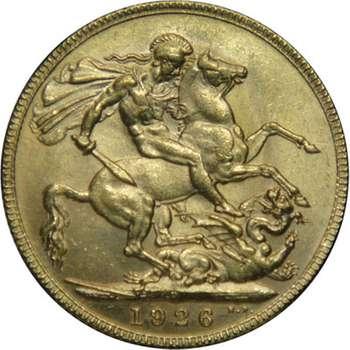 1926 P Australia King George V St George Sovereign Gold Coin