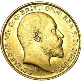 1906 S Australia King Edward VII St George Half Sovereign Gold Coin