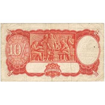 1939 Australia R. 12 Ten Shillings King George VI Sheehan/McFarlane Australian Predecimal Banknote