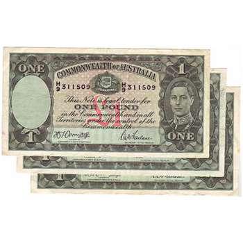 1938-1952 Australia One Pound King George VI Good quality hand selected Australian Predecimal Banknote