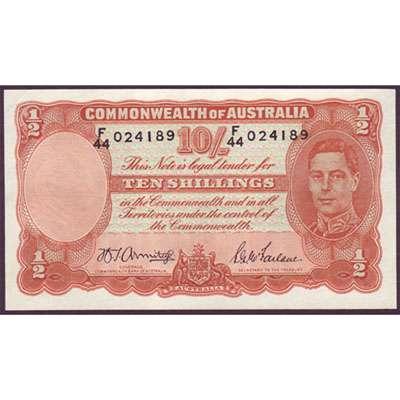 1942 Australia R. 13 Ten Shillings King George VI Armitage/McFarlane Australian Predecimal Banknote