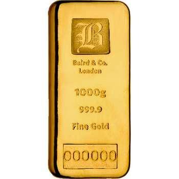 1 kg Baird & Co Gold Bullion Cast Bar