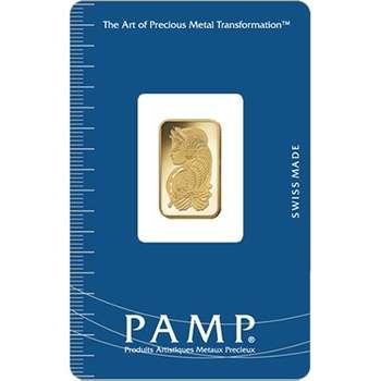 5 g PAMP Suisse Gold Bullion Minted Bar