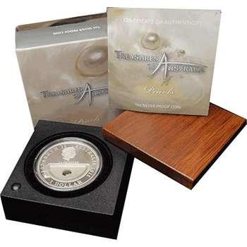1 oz 2011 Treasures of Australia Pearls Silver Proof Coin