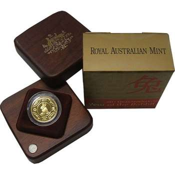 1/10 oz 2011 Year Of The Rabbit Ten Dollar Gold Proof Coin