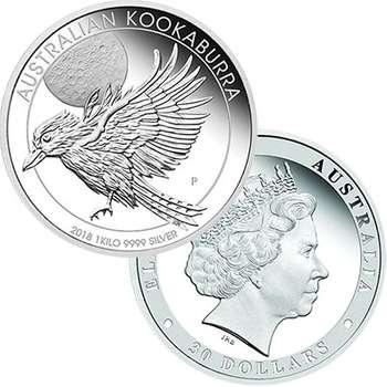 1 kg 2018 Australian Kookaburra Silver Proof Coin