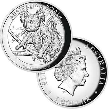 1 oz 2018 Australian Koala High Relief Silver Proof Coin