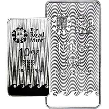 10 oz Royal Mint Lady Britannia Minted Silver Bullion Bar