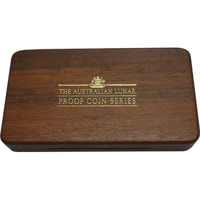 Australian Series I Lunar gold Coin Series Three Coin Display Box