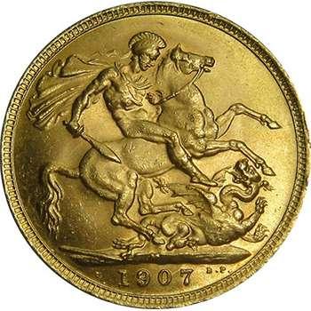 1907 M Australia King Edward VII St George Sovereign Gold Coin