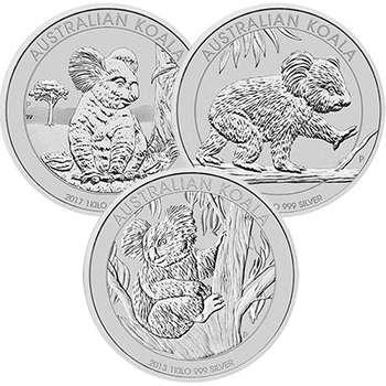 1 kg Australian Koala Silver Bullion Coin- Mixed Dates