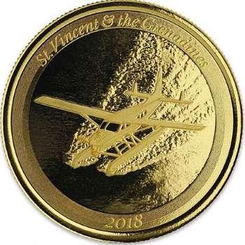 1 oz 2018 St. Vincent & the Grenadines Seaplane Gold Bullion Coin