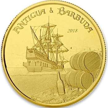 1 oz 2018 Antigua & Barbuda Rum Runner Gold Bullion Coin