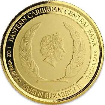 1 oz 2018 Monteserrat Emerald Isle Of The Caribbean Gold Bullion Coin