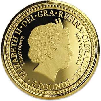 1 oz 2018 Gibraltar Royal Arms Of England Gold Bullion Coin