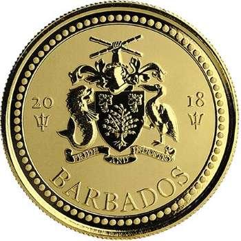 1 oz 2018 Barbados Trident Gold Bullion Coin