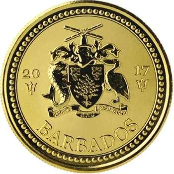 1 oz 2017 Barbados Trident Gold Bullion Coin