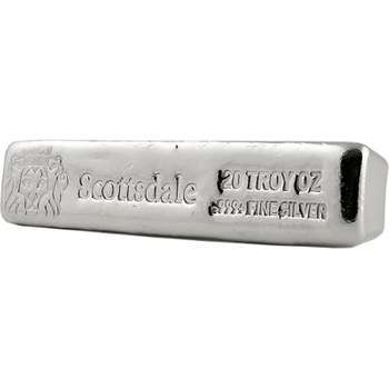 20 oz Scottsdale CL20 Long Silver Bullion Cast Bar