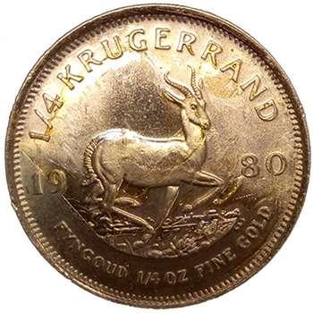 1/4 oz South Africa Krugerrand Gold Bullion Coin - Dates of KJC's choice