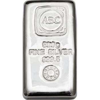 500 g ABC Silver Bullion Cast Bar