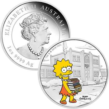 1 oz 2019 The Simpsons Lisa Silver Proof Coin