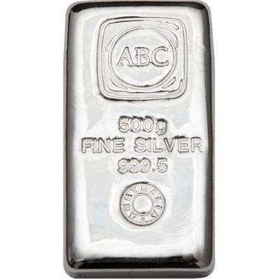 500 g ABC Silver Bullion Cast Bar - 12.5 kg Monster Box