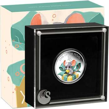 1/2 oz 2020 Baby Mouse Silver Proof Coin