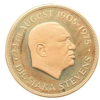 1905 - 1975 Sierra Leone 10 Gulden Gold Proof Coin