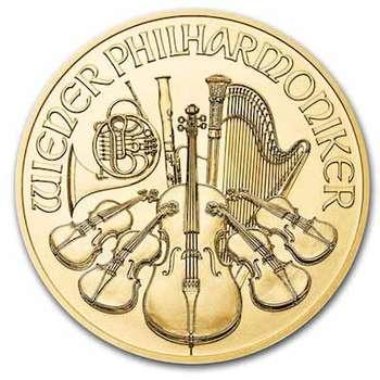 1 oz 2021 Austrian Philharmonic Gold Bullion Coin