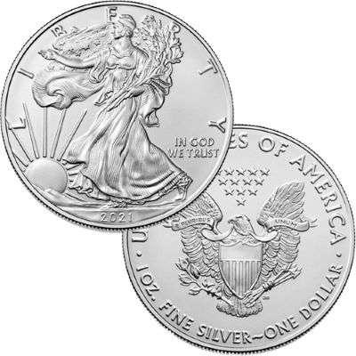 1 oz 2021 American Eagle Silver Bullion Monster Box of 500 Coins