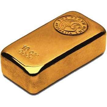 10 oz Perth Mint Cast Gold Bullion Bar