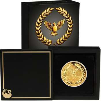 2 oz 2020 End of WWII 75th Anniversary Gold Proof Coin