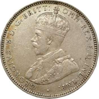 1928 Australian King George V Shilling Silver Coin