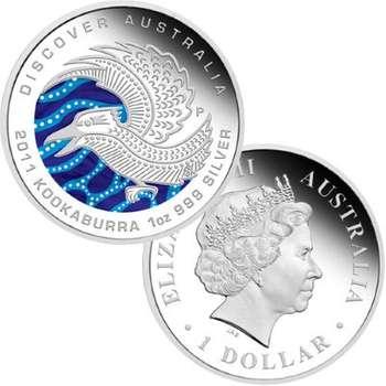 1 oz 2011 Discover Australia Series Kookaburra Silver Proof Coin