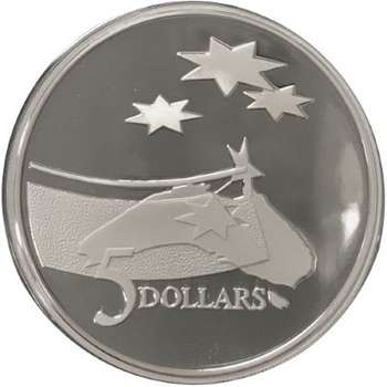 1 oz 1992 International Year Of Space Adelaide Coin Fair $5 Silver Proof Coin