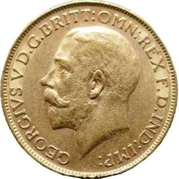 1924 P Australia King George V St George Reverse Sovereign Gold Coin