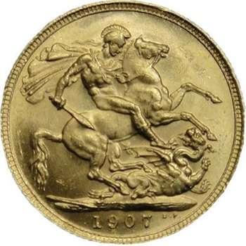 1907 S Australia King Edward VII St George Sovereign Gold Coin